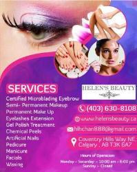 Helen's Beauty Spa | microblading eyebrows Calgary