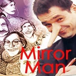 Karikaturist Mirror-Man