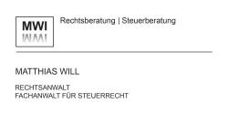 MWI Rechtsberatung/Steuerberatung - Matthias Will Fachanwalt für Steuerrecht