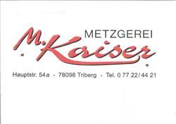 Metzgerei Kaiser