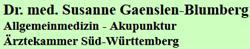 Dr. Med. Susanne Gaenslen-Blumberg