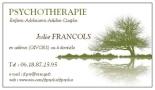 Psychologue-Psychotherapeute, Julie Francols (69700 Givors)
