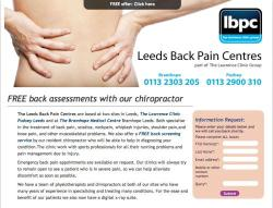 LEEDS BACK PAIN CENTRE