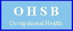 Ohsb Occupational Health