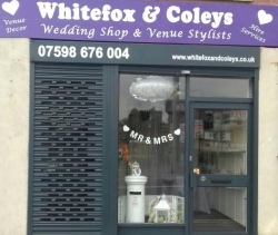 Whitefox & coleys wedding shop & venue stylist leeds